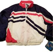 Santana 90and039s Vintage Windbreaker Blue Pink White One Size Large Equivalent