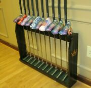 Wood Floor Display Rack For 10 Scotty Cameron Putters Golf Clubs And Head Covers