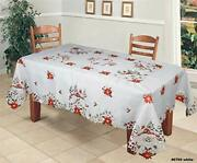 Creative Linens Holiday Christmas Tablecloth 70x90 With 8 Napkins Embroidered...