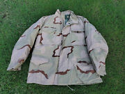 Us Army Usaf Air Force Usmc Dcu Desert Camo M65 Field Jacket W/ Liner Large Long