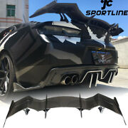 Rear Trunk Spoier Racing Wing Carbon Fiber Fit For Chevrolet Camaro Coupe 16-19