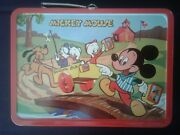 1954 Mickey Mouse And Donald Duck Lunchbox With Rare Original Shipping Box