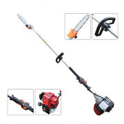 New 4-stroke 59 Gas Powered Pole Saw Chainsaw Cordless Pruner Tree Trimmer 37cc