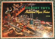 Gilbert Toys/american Flyer Trains Layout 1950 Tin Ad Sign, Reproduction, 1993