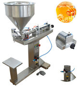 110v Peanut Butter/ Honey Paste Liquid Filling Machine With Stand 100ml 1nozzle