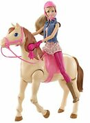 Barbie Jumps On Horse Saddlen Ride Horseback Riding Dolls Perfect For Gifts