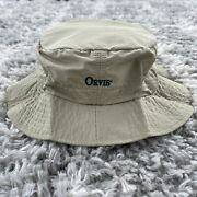 Vintage Orvis Fishing Tackle Outdoors Hiking Bucket Hat Beige Size Med Usa Made