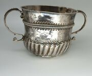 Fine Silver 1701 Antique William Iii And Mary Silver Porringer London