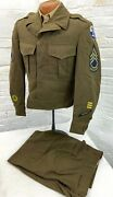 1946 Us Army 6th Infantry Division 10th Corps Dual Patched Uniform