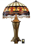 Victorian Parlor -style Stained Glass Table Lamp