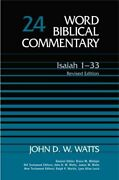 Word Biblical Commentary Isaiah 1-33 By John D. W. Watts - Hardcover Brand New