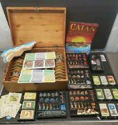 Settlers Of Catan 3d Collector's Edition 10th Anniversary 2005 Oop Rare Wood Box