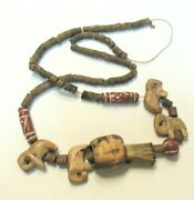 Vintage Wooden And Clay Beads To Restring Or For Jewelry Making