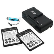 2x 5170mah Battery+universal Charger+ Stylus For Samsung Galaxy S4 Mini Sch-i435