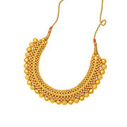 22k 916 Hallmarked Yellow Gold Collar Necklace For Women 11.2 Gm Plain Jewelry