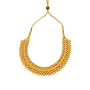 22k 916 Hallmarked Yellow Gold Collar Necklace For Women 9.3 Gms Plain Jewelry