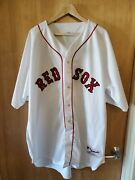 Vintage Pedro Martinez Russel Athletic White Red Sox Jersey Adult Sz 56