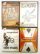 Lot Of 4 Gregory Wilson Magic Trick Dvds New Sealed