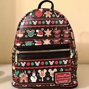 Nwt Disney Parks Loungefly 2019 Holiday Christmas Snacks Food Icons Backpack
