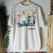 Vintage 90s King Of The Hill Tv Promo T-shirt Xl Tultex White