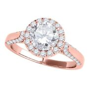Diamond Halo Engagement Rings For Women 0.90 Cttw Natural Diamond Antique Ring