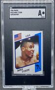 1986 Panini Supersport Uk Mike Tyson Rookie Card Iron Mike Sgc A