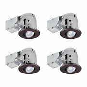 Globe Electric 90964 Recessed Lighting 4 Count Pack Of 1 Oil Rubbed Bronze Ro...