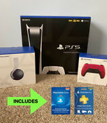 Sony Playstation 5 Ps5 Console Bundle Extra Controller Pulse 3d Headset New