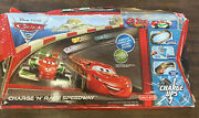 Disney Pixar Cars Charge Ups Charge N Race Speedway Track Charger And Car Set