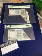 India 100 Rs Error Cutting. Error Pcgs 58 And 53extremely Fine