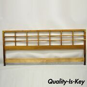 Baker Milling Road Campaign Style Walnut Lattice And Brass King Size Bed Headboard