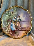 Limoges France Hand Painted 15 1/4 Inch Charger Signed By Gayou ,
