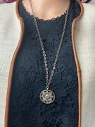 Lois Hill 925 Sterling Silver Womens Chain Necklace With Round Pendant 14 1/2 L