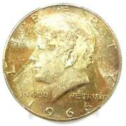 1966 Kennedy Half Dollar 50c Coin - Pcgs Ms67 - Rare In Ms67 - 3000 Value
