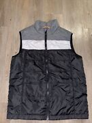 Cutter And Buck Packable Puffer Insulated Golf Vest Menand039s Size Medium Grey Black