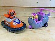 Paw Patrol Zumaandrsquos Hovercraft And Skyeand039s Copter With Collectible Figures