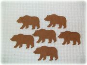 6 Vintage Chenille Bedspread Cutter Quilt Appliques Cabin Craft Bear Cut Outs