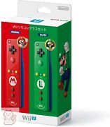 Nintendo Wii Official Remote Controller Mario And Luigi Motion Plus Wii U Used