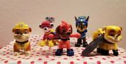 Paw Patrol Group Of Actiion Figures. 5 Of Your Favorite Action Figures