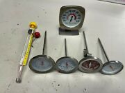 Lot Of 6 Vintage Acu-rite Cooper Taylor Polder Meat Thermometer Candy Deep Fry