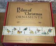 Williams Sonoma 12 Days Of Christmas Ornaments Handpainted In Box Pre-owned