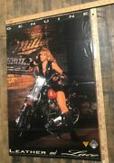 Vintage Poster Leather And Lace Miller Genuine Draft Ride Straight Harley