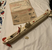 Vintage 1960and039s Itc Ideal Toy Corp Plastic Model Halibut Submarine Read Rare