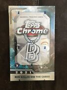 2021 Topps Chrome Ben Baller Edition Sealed Hobby Box- In Hand Ready To Ship