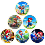 Children's Birthday Gifts Super Mario Gold Coin Commemorative Metal Coin