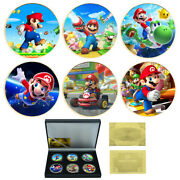 Luxury Gifts Super Mario Gold Coin Commemorative Metal Coin Art Ornament