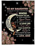 To My Daughter Love You To The Moon And Back From Mom| Fleece Sherpa Woven 2022