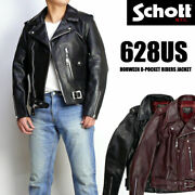 Schott Shot 628us Leather Jacket By Horwin Chrome Excel Pocket Riders 7447