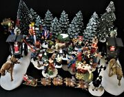 Dept 56 - Lot Of 38 Individual Village Accessories - Look - All Mint
