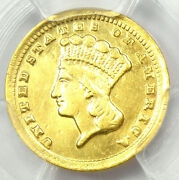 1859-c Indian Gold Dollar G1 - Certified Pcgs Xf Details - Rare Charlotte Coin